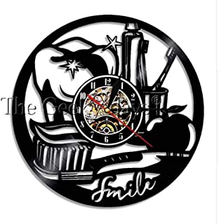 Delicate Dental supplies vinyl record wall clock living room wall clock clock Amazon art design creative simple modern@12 inches_Style 4,Colour:12 Inchesstyle 2 (Color : 12 Inchesstyle 2)