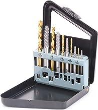 SEDY 10-Piece Screw Extractor/Drill Bit Set, Spiral Flute Extractor Set Broken Bolt..