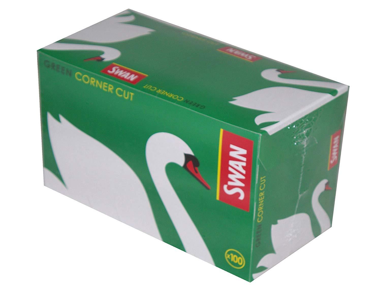Swan - Papel de Liar (100 librillos por Caja), Color Verde: Amazon.es: Hogar