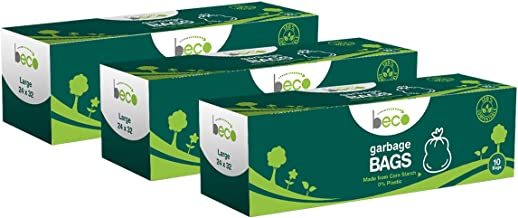 Beco Compostable Garbage Bags/Trash Bags/Dustbin Bags Large 24 X 32 Inches Pack of 3 (10 Pieces Each Pack)