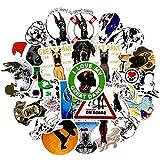BBKB Divertidos Dibujos Animados Gran danés Pegatinas de Perro para monopatín portátil Equipaje refrigerador Scrapbooking Pegatinas Moda 50 unids/Set