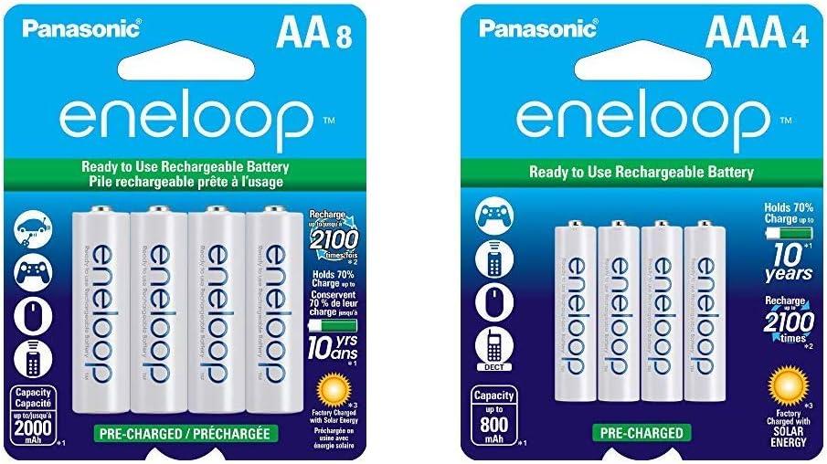 Pilas recargables Panasonic Eneloop pack 4 AA+ 4 AAA