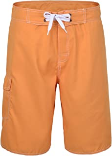 Men's Solid Lightweight Beach Shorts Half Pants with Lining