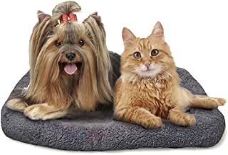 """Pet Bed for Cats & Dogs --- Comfy, Plush Cashmere with Cotton Cushion Lining - 16"""" x 25"""" for Medium-sized Breeds - Breathable and Washable Materials - Perfect for Beagles, Pugs, Pomeranians & Persians"""