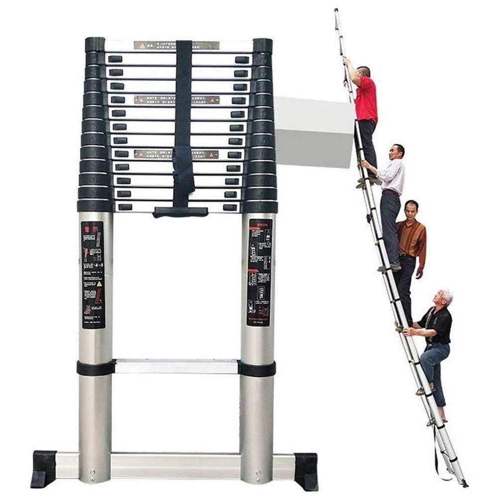Subir telescópica Escalera Con la barra estabilizadora al aire libre de aluminio altas escaleras for varios tamaños for los hogares Industrial diaria o uso de emergencia, carga de 330lb lxhff: Amazon.es: Bricolaje