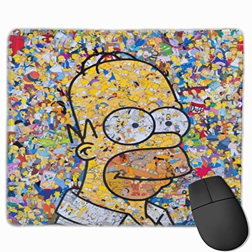 OSY The Simpsons Rectangle Mouse Pad Funny Office Mouse Pad for Desktops,Computer,PC and Laptops