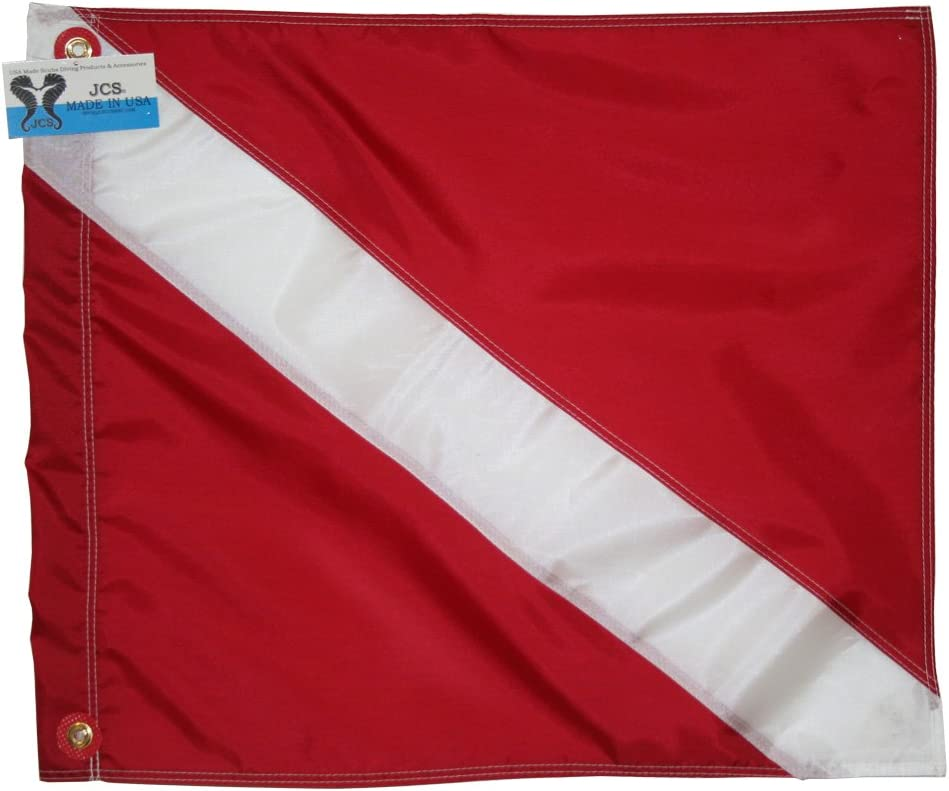 JCS Extra-Heavy Nylon Dive Product Flag Slip Style Brand new on 24inch 20inch x