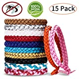 Mosquito Repellent Bracelet, PandyCare 15 Pack Mosquito Bands for Adults, Kids & Babies