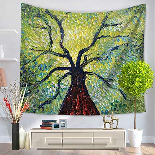 DBSUFV Pintura al óleo estilo plantas patrón moda tapiz tapiz de pared colgante decoración del hogar manta de picnic toalla de playa cortinas de cama