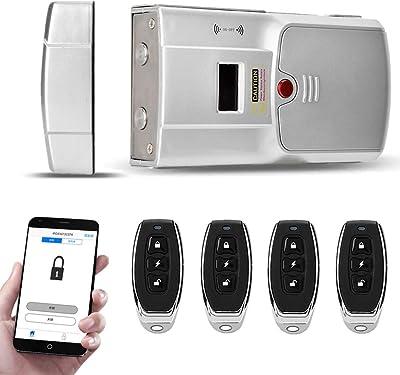 APP Bluetooth Smart Digital Door Lock Electronic Touch Password Home Security ZY