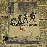 MXIBUN Vintage Rise of The Planet of The Apes Movie Poster Bar Kids Room Decoración para el hogar Simios César Retro Kraft Paper 30 * 42Cm sin Marco