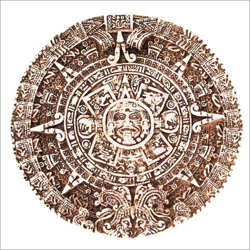 Posterlounge Leinwandbild 40 x 40 cm: Maya-Kalender von Editors Choice - fertiges Wandbild, Bild auf Keilrahmen, Fertigbild auf echter Leinwand, Leinwanddruck