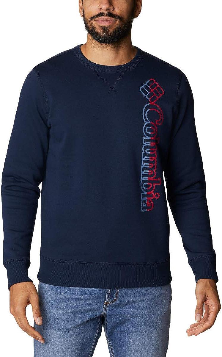 Columbia Men's Logo 国内正規品 高級品 Fleece Crew