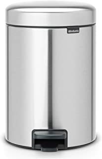 Brabantia Newicon-Cubo de Basura con Pedal 3 l Color Fpp Inoxidable Acero Mate Anti-Huellas