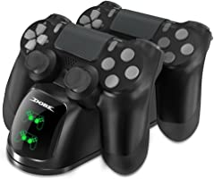 Dobe PS4 Controller Charger, Dual Shock 4 Controller Charging Docking Station with LED Light Indicators Compatible with...