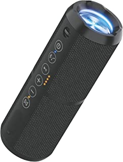 Portronics Breeze II 20W Bluetooth 4.2 Portable Stereo Speaker with TWS, Micro SD Card, Aux in, Water Resistant, 2000mAh Battery, Black