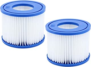 WRYIP VI Cartucho de filtro para piscina, cartucho de filtro de repuesto para Bestway Pool Filter, para Lay-Z-Spa Miami hinchables, para Vegas Monaco, tamaño 6-58323 (2 unidades)