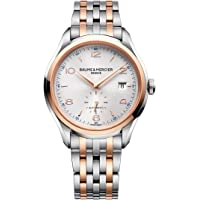 Baume Mercier Clifton Silver Dial Stainless Steel Men's Watch (Rose Gold)