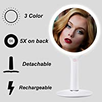 Fascinate Ultra Bright Dimmable 62 LED Rechargeable Makeup Mirror