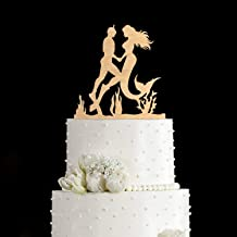 Mermaid cake topper Diving cake topper mermaid wedding cake topper diving wedding cake topper scuba diving cake topper diver cake topper