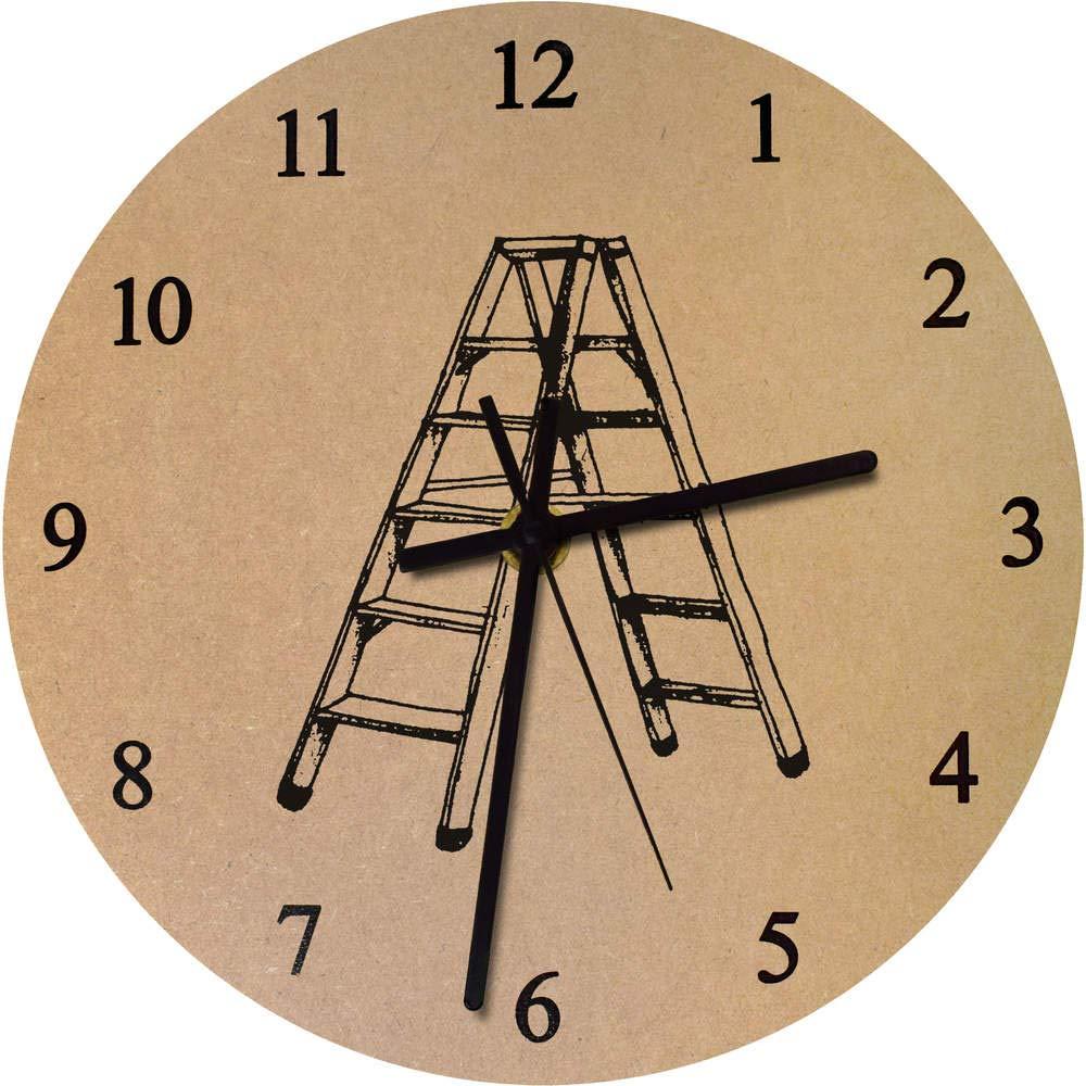 Azeeda 275mm Escalera de Tijera Reloj de Pared Grande de MDF (CK00002378): Amazon.es: Juguetes y juegos