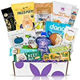 PALEO Diet Snacks Gift Basket: Mix of Whole Foods Protein Bars, Grain Free Granola, Cookies, Jerky Meat Sticks, Fruit & Nut Snacks Healthy Sampler Box