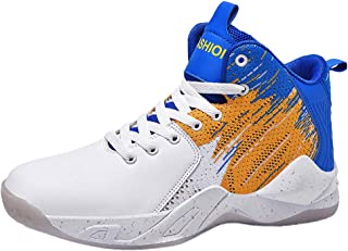 Kauneus Basketball Shoes Mens High Tops Sneakers Athletic Trainers Shoes Colorful Cool Teens Student Outdoor Sports Shoes
