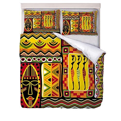 Funda Nordica Textura de Egipto Fundas Edredon con 2 Fundas de Almohada 50x75cm 3 Piezas Muy Suave Microfibra Funda Nórdica, 200x200cm