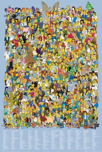 The Simpsons Cast 2012 Filmposter Die Simpsons - Grösse 61x91,5 cm