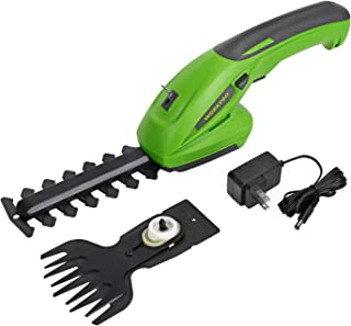 WORKPRO 7.2V 2-in-1 Cordless Grass Shear + Shrubber Trimmer - Handheld Hedge Trimmer, Rechargeable Lithium-Ion Battery and Charger Included