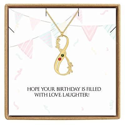 DesignForYou Custom Infinity Name Necklace with...