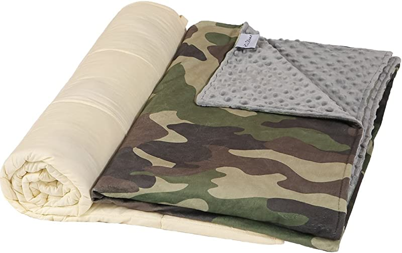 Hiseeme Weighted Blanket Washable Removable Cover For Kids And Children 10 Lbs 41 X 60 Twin Size Premium Super Soft Minky Dot Camouflage