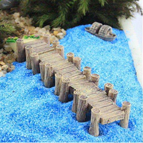 Yesiidor - Figuras de Puente en Miniatura, Adornos creativos, adorables, Mini Hadas, Jardín, Miniatura, Decoración del hogar, Regalo, plástico, Gris, As Description