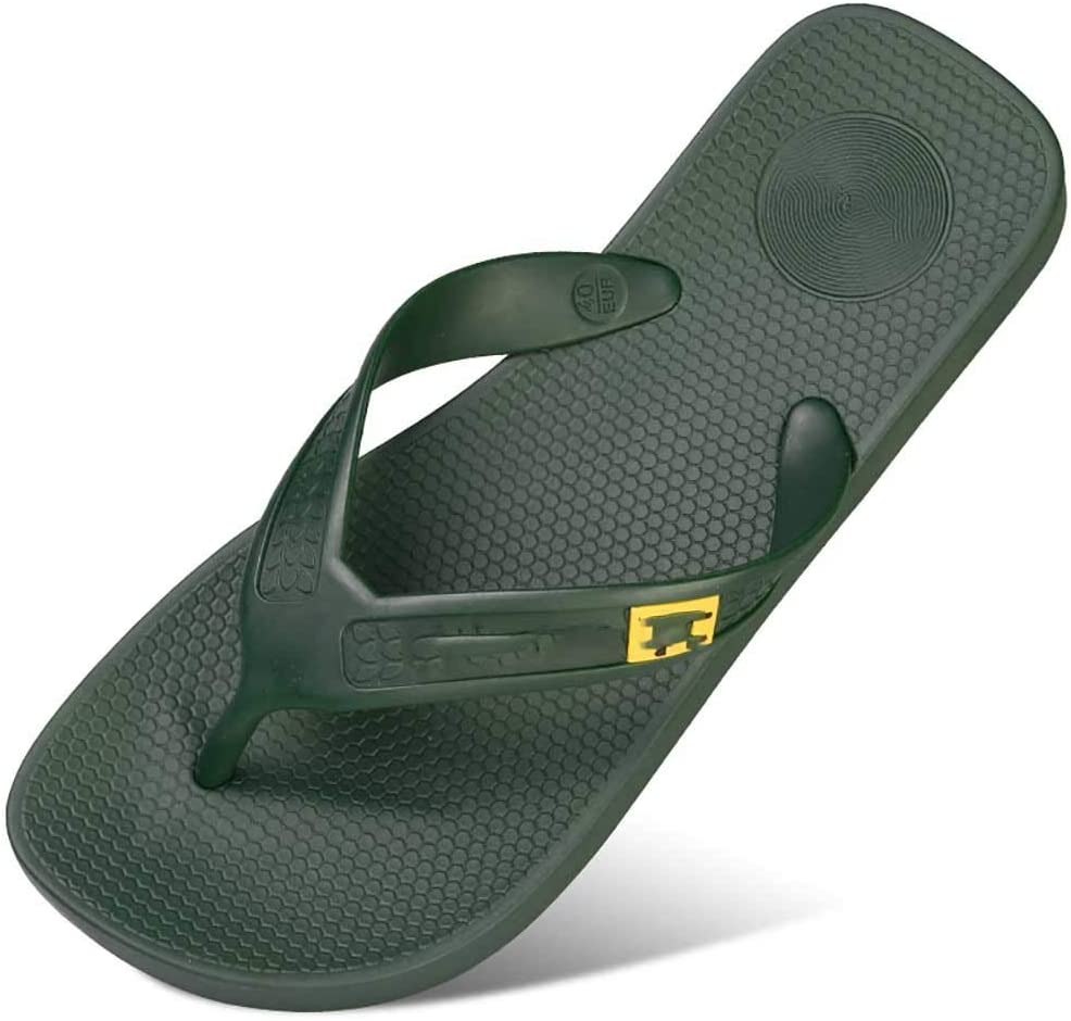 Tia Men Sandals Flip Flop with Orthotic Support Athletic Slide Sandals for Men with Soft Cushion Footbed for Beach/Pool