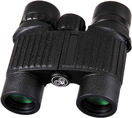 Gimitunus Jumelles compactes d'observation des Oiseaux de télescope Compact, télescope Anti-buée imperméable pour Le Tourisme de Plein air voyageant Le Jeu de Chasse (Taille   10x25)
