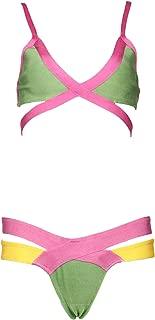 Meilun Women's 2 pcs Bandage Summer Splice Swimsuit Bikini