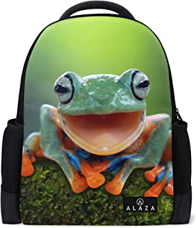 Mydaily Laughing Tree Frog Funny Backpack 14 Inch Laptop Daypack Bookbag for Travel College School