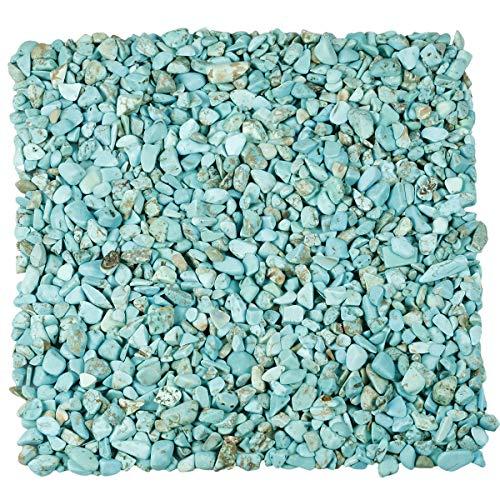 KYEYGWO 1 Pfund kleine getrommelte Chips zerkleinerte Stein, Heilung Reiki Kristall Trommelsteine für Schmuck Machen Heimtextilien