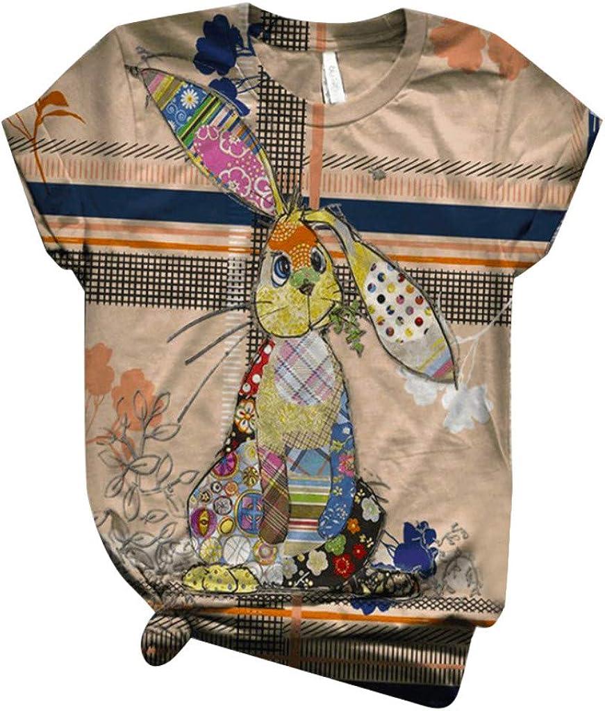 Shakumy Women's T Shirts Cute Animal Glasses Giraffe Printed Funny Graphic Tees Short Sleeve Summer T-Shirt Top Tunics Blouse