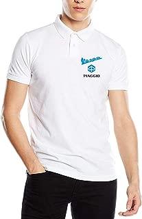 New Personalized Piaggio Vs Vespa Motorcycles Logo Fashion Funny Printed Pyrograph Polo T-Shirt O-Neck for Mens Black
