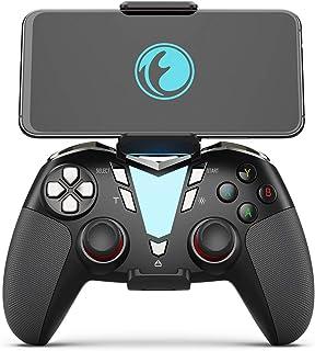 IFYOO ONE Pro 2.4GHz無線/Bluetooth USB充電 ゲームパッド コントローラー ワイヤレスゲームパッド フォートナイト/PUBG Mobile/荒野行動対応 Android/PC Windows対応 連射・振動機能搭載 - [銀黒]