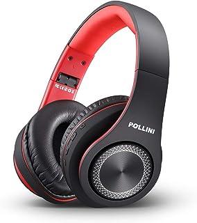 Sponsored Ad - Bluetooth Headphones Over Ear, pollini Wireless Headset V5.0 with Deep Bass, Soft Memory-Protein Earmuffs a... photo