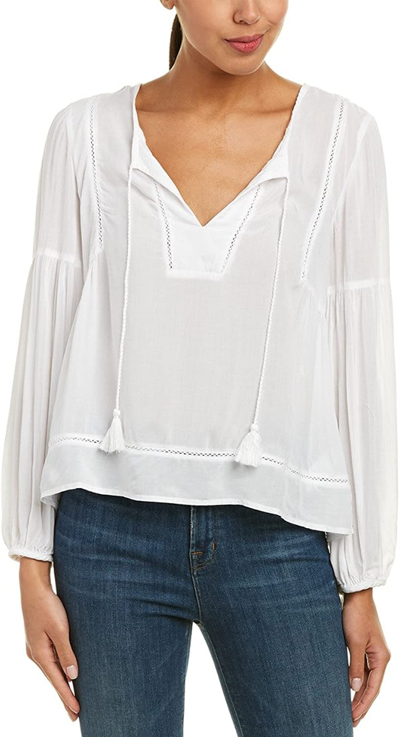 Splendid Womens Paradise Cove Solid Bell Sleeve Top