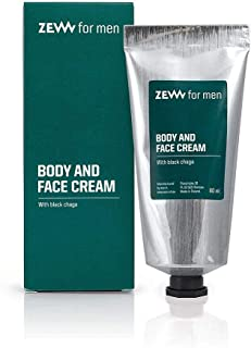 Zew For Men Face and Body Cream Natural Moisturizer with Black Chaga 80ml