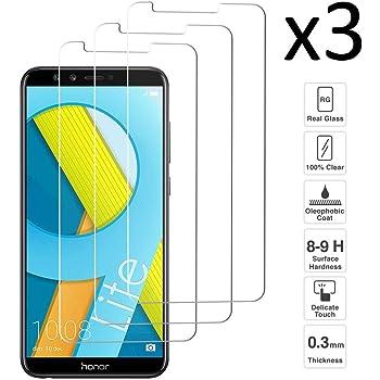 REY 3X Protector de Pantalla para Huawei Honor 9 Lite, Cristal ...