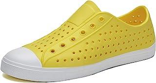 أحذية رياضية للرجال والنساء من SAGUARO أحذية رياضية قابلة للتنفس سهلة الارتداء في الحديقة من الخلف أحذية مائية صفراء