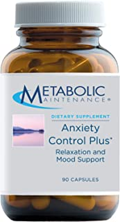Metabolic Maintenance Anxiety Control Plus - Calm + Relaxation Support Supplement with GABA, Magnesium, B6 + Passion Flowe...