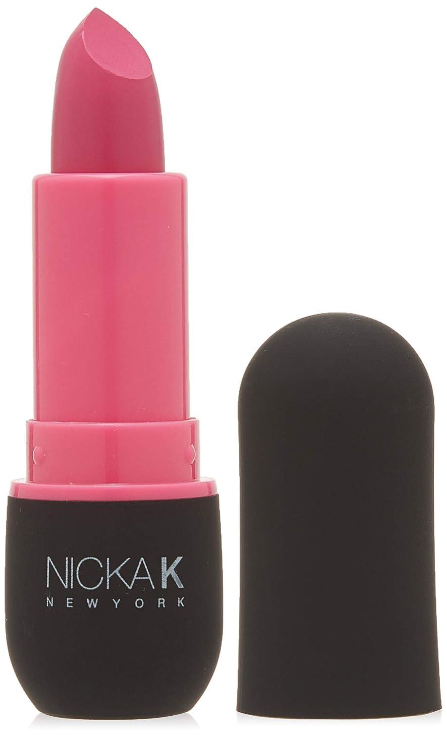 手首議会無謀NICKA K Vivid Matte Lipstick - NMS06 Hot Pink (並行輸入品)