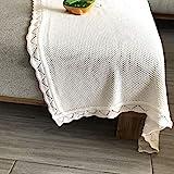 YOYI YOYI Cotton Baby Blanket Waffle Knit Toddler Blankets Soft Warm Breathable Nursery Swaddling Blankets for Girls and Boys Receiving Blanket for Crib, Stroller, car 31'x40'(Milk)