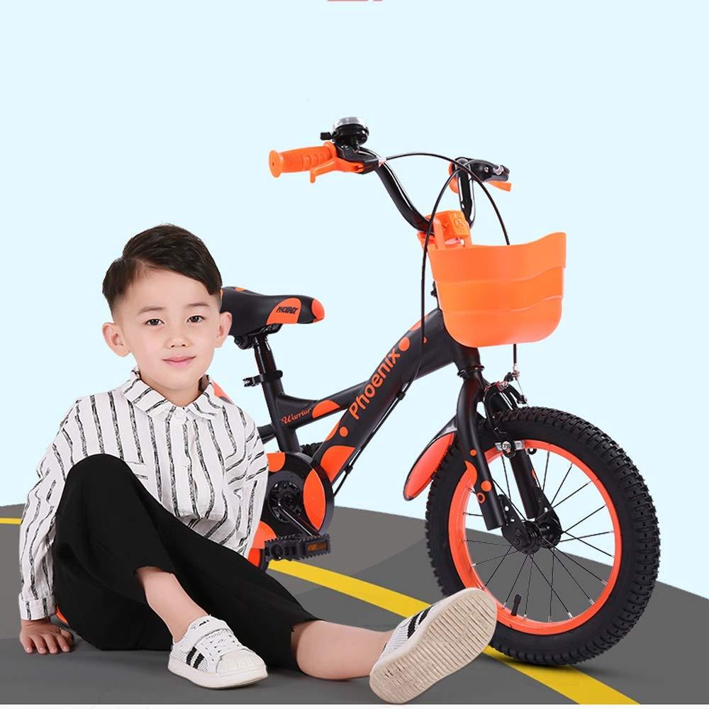TSDS Bicicleta Infantil de 18 Pulgadas Bicicleta Verde/Naranja/Azul/Rosa Moda Bicicleta de montaña (Color : F): Amazon.es: Deportes y aire libre